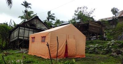 Tenda darurat di lokasi bencana