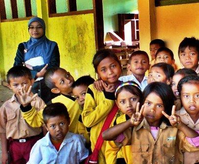 Salah satu sekolah di Tambora / Foto: Kahaba.info