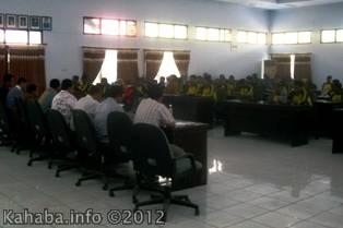 Proses audiensi PPDI dengan anggota DPRD Kabupaten Bima