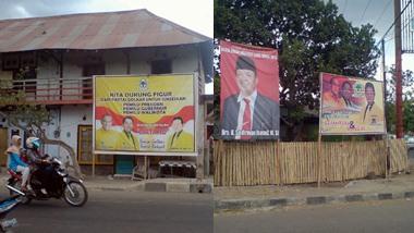 Perang Baliho menjelang suksesi Walikota Bima 2013