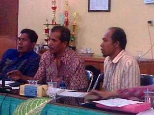 Rapat AIPD Australia dalam penyusunan program Tahun 2013, Kamis, 1 November 2012. Foto: Bagian Humas Pemkab Bima