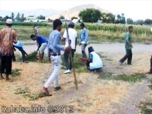 Warga saat mendatangi lokasi lahan yang dilelang Pemda. Foto: Cen