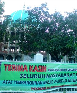 Pembangunan Masjid Al-Muwahidin kembali dilanjutkan. Foto: Arief