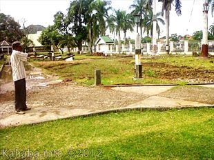 Kondisi pengerjaan proyek taman Museum Asi Mbojo. Foto: Bin