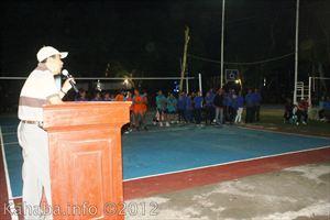 Pembukaan Turnamen Bola Voli Karang Taruna Kelurahan Mande. Foto: bim