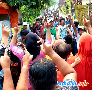 Kedatangan pasangan JAMIN disambut antusiasme warga Ranggo Kelurahan Sarae