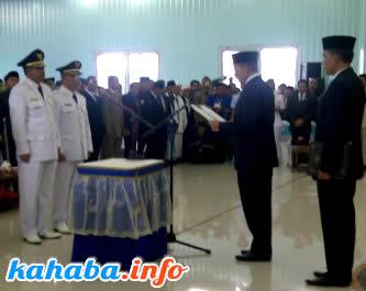 Pelantikan pasangan H. Qurais H. Abidin dan H. A. Rahman H. Abidin, Rabu 23 Juli lalu
