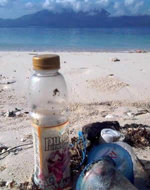 Sampah plastik mengancam pantai kita