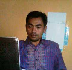 Ketua Panitia Tender proyek rehagbilitasi MTsN Raba, Abdurahim, S.Com, M.Pd