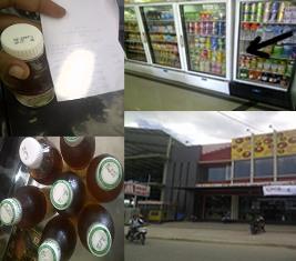 Minuman kadaluarsa dan Swalayan Mai Mart. Foto: Gus