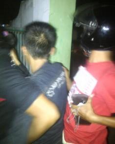 Pelaku Curanmor di RS Muhammadiyah saat diamankan Tim Buser Polres Bima Kota. Foto: Gus
