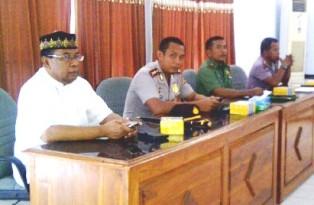Unsur Muspida saat rapat paripurna DPRD Kabupaten Bima, Jum'at, 20 September 2013. Foto: Gus