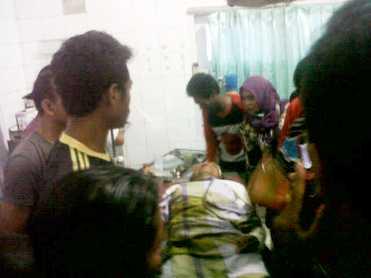 Korban kecelakaan maut di ruas jalan Dadibou. Foto: Bob