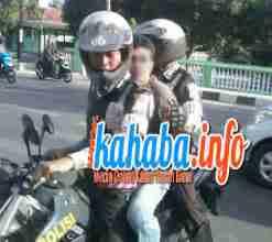 Terduga bandar sabu, LF yang diamankan menggunakan sepeda motor. Foto: DEDY
