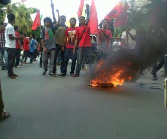 Mahasiswa Demo di Hari Anti Korupsi se-Dunia. Foto: AGUS