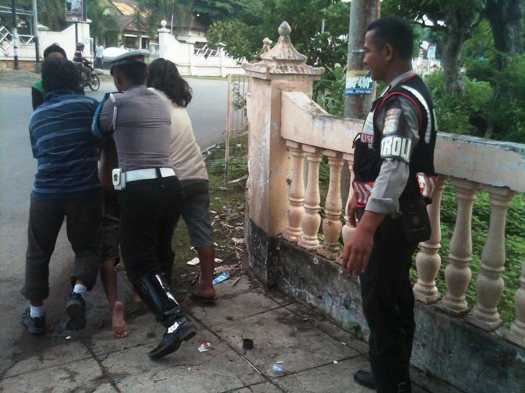 Oknum pembawa Sajam saat diamankan Polisi. Foto: BIN