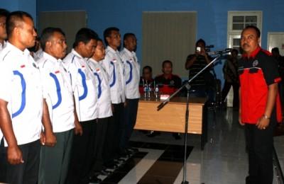 Pengurus PBVSI Kota Bima masa jabatan Periode 2014 – 2018, dilantik. Foto: Bin