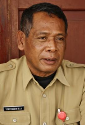 Kepala Dinas Pariwisata dan Kebudayaan Kabupaten Bima Drs. Syafruddin HA. Foto: Bin