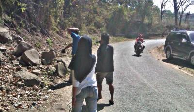 lokasi tempat meninggalnya Kapolsek Ambalawi, IPTU. A. Salam. Foto: Dedy