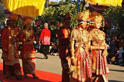 Rombongan Keraton Kesultanan Palembang Darussalam. Foto: Bin