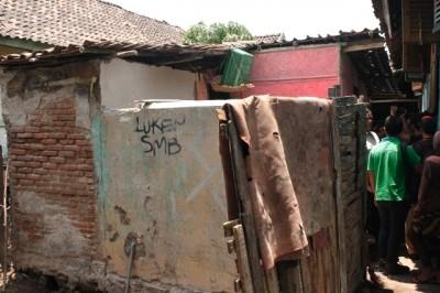 Kondisi Rumah yang ditempati Asti. Foto: Bin