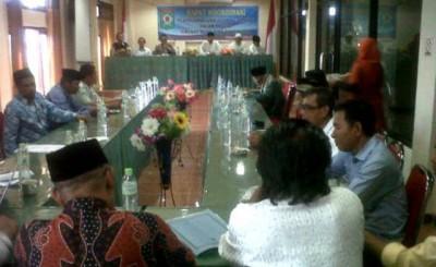 Rapat koordinasi membahas masalah LDII. Foto: Erde