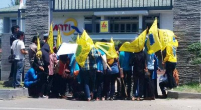 PMII Demo PLN. Foto: Bin