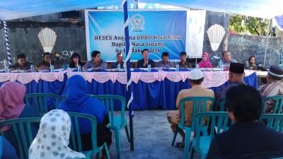 Anggota Dewan Dapil II Kota Bima saat Reses di Kelurahan Dara. Foto: Bin