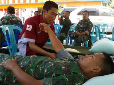 Kodim 1608 Bima gelar kegiatan donor darah. Teta