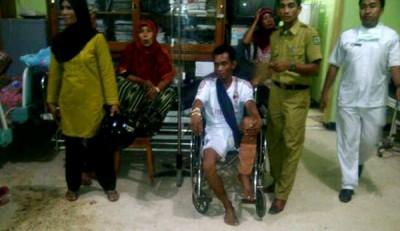 Korban bentrok saat di RSUD Bima. Foto: Erde