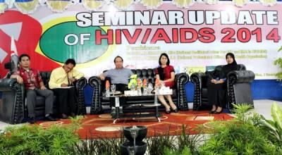 Seminar HIV/AIDS dengan tema Update of HIV/AIDS Tahun 2014. Foto: Bin