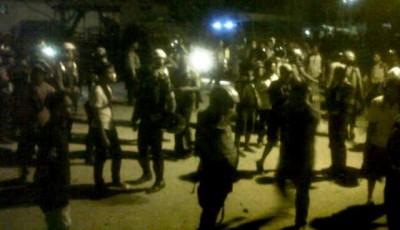 Suasana bentok Tanjung dan Dara yang dijaga Aparat. Foto: Erde