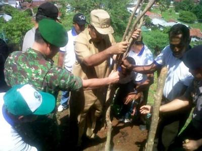 Walikota Bima saat melakukan penghijauan. Foto: Erde