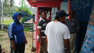 Sekda saat pimpin penertiban PKL. Foto: Bin