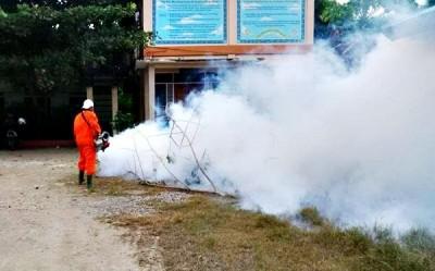 Fogging di Kelurahan Monggonao. Foto: Bin