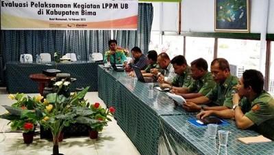 LPPM-UB Evaluasi Kegiatan Pendampingan di Kabupaten Bima. Foto: Hum