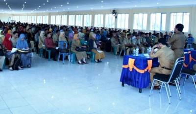 Bimtek Operator Dapodik yang digelar Dinas Dikpora Kabupaten Bima. Foto: Hum