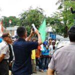 Desak Pelaku Pembunuhan Mahasiswa Ditangkap, FMH Demo Polisi