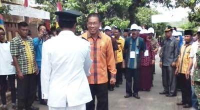 Acara penyambutan Lomba Desa di Kabupaten Bima. Foto: Hum