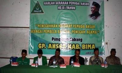 Acara peringatan Harlah Gerakan Pemuda Ansor Kabupaten Bima ke-81, di Aula Kampus STIT Sunan Giri Bima. Foto: Erde