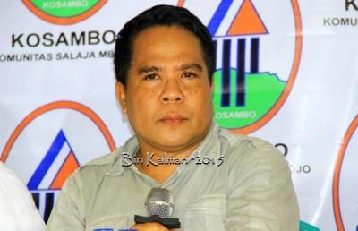 Kreator Ady Bima, Saad Bima saat memberikan keterangan Pers. Foto: Bin