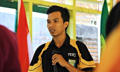 Ady Supriadin saat menyampaikan materi pada pelatihan. Foto: Bin