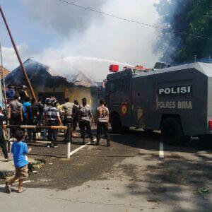 Petinggi Mabes Polri Tinjau Kebakaran Kantor Polres