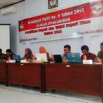 KPU Sosialisasi PKPU Pencalonan Pemilukada Kabupaten Bima
