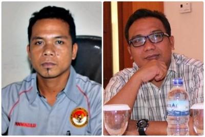 Ketua Panwaslu Kabupaten Bima Abdullah, SH dan Anggota Junaidin SPd. Foto: Bin