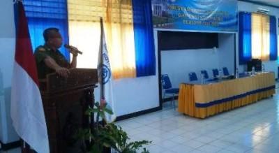 Wakil Walikota Bima saat memberikan sambutan pada Muscab ke tiga Gapensi. Foto: Bin