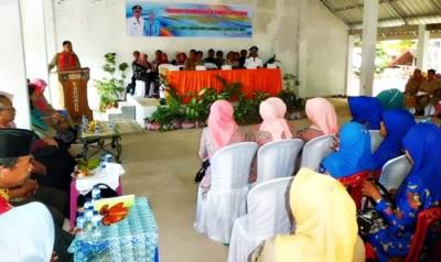 Sambutan Ketua tim lomba Desa tingkat Provinsi. Foto: Hum