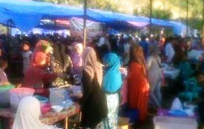 Suasana Pasar Ramadhan. Foto: Erde