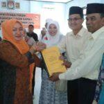 Pasangan KH Mendaftar ke KPU Bima