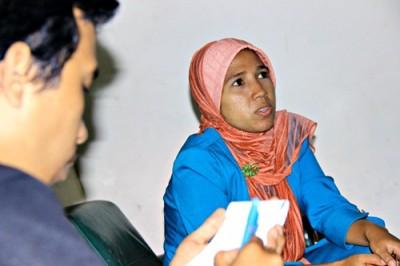 Irma Rubianti saat diawawancara Kahaba. Foto: Bin